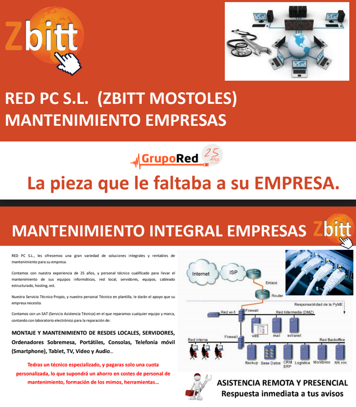 Mantenimiento red pc